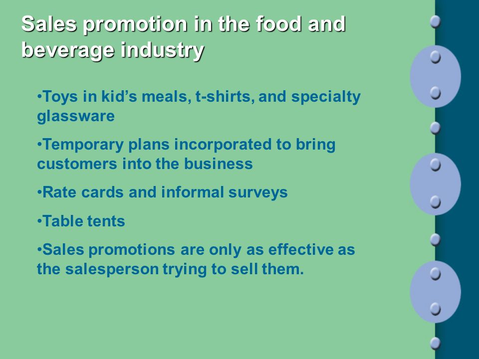Sales promotion in the food and beverage industry