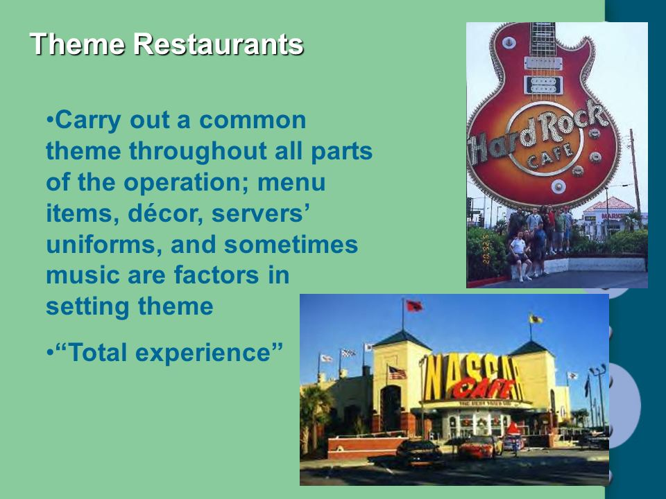 Theme Restaurants