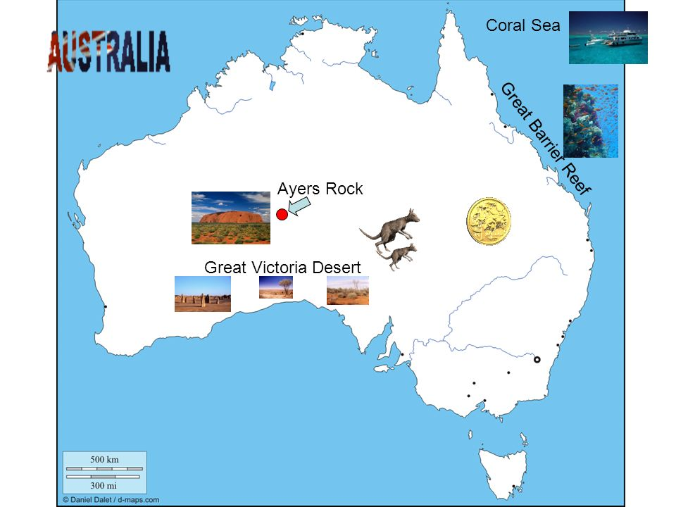 Coral Sea Great Barrier Reef Ayers Rock Great Victoria Desert
