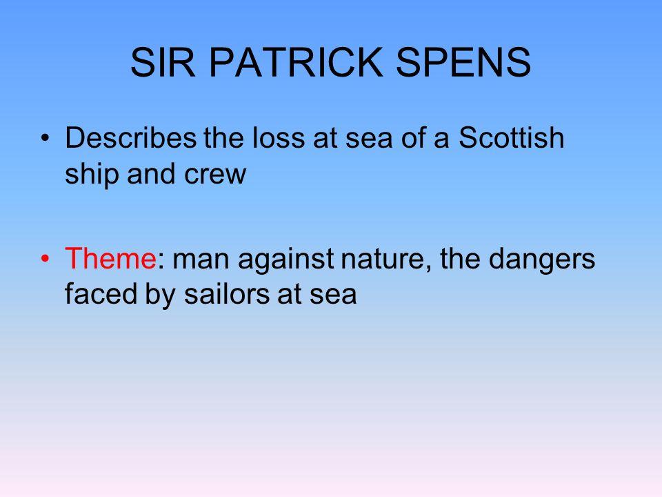 the ballad of sir patrick spens analysis