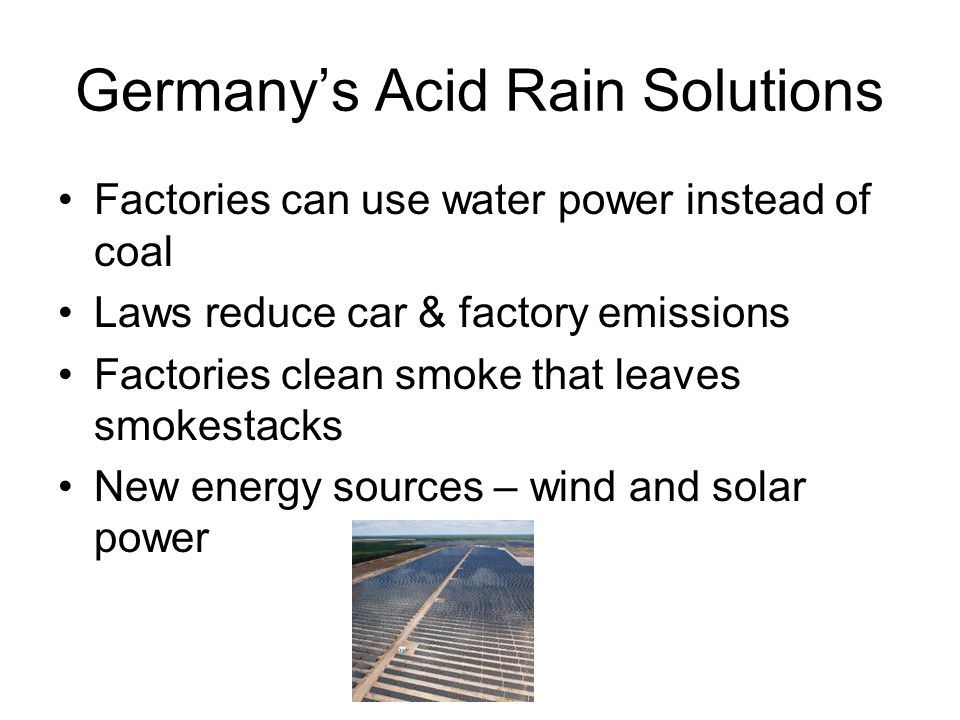 Germany's Acid Rain Solutions