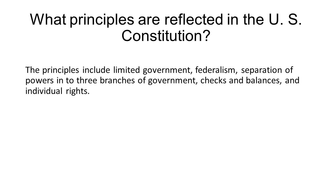 What are the principles of separation of powers? 31