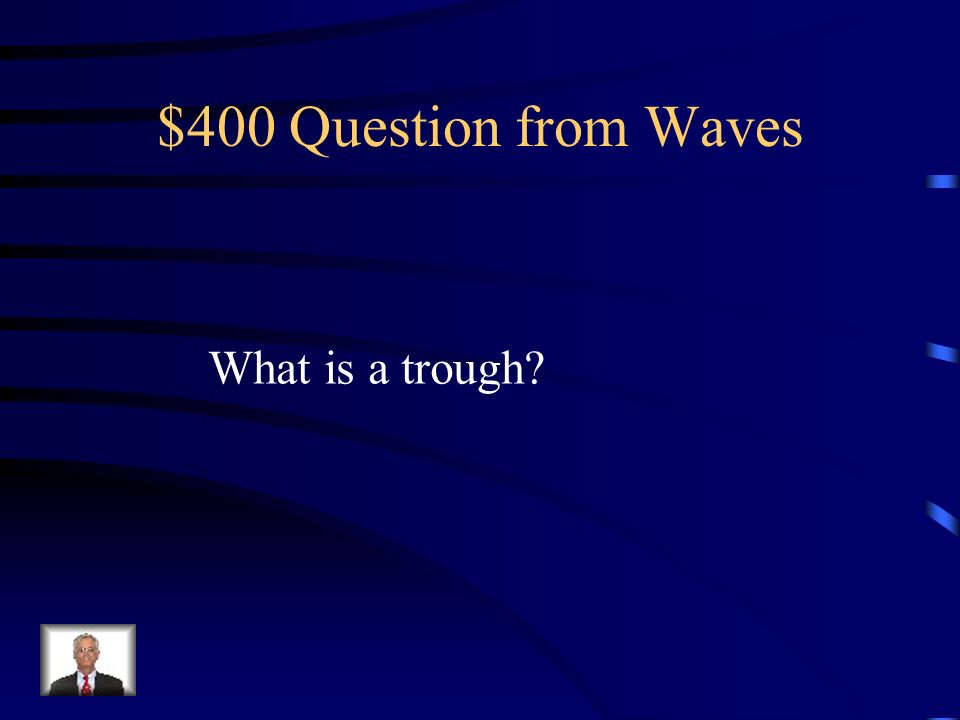 $400 Question from Waves What is a trough
