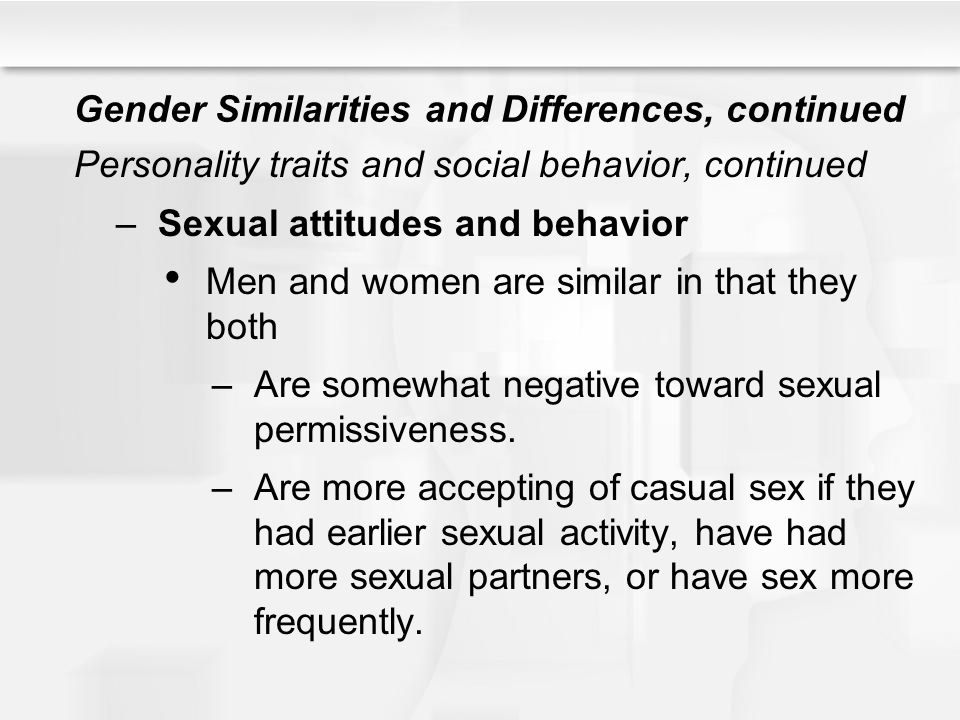 Sex and gender similarities and differences