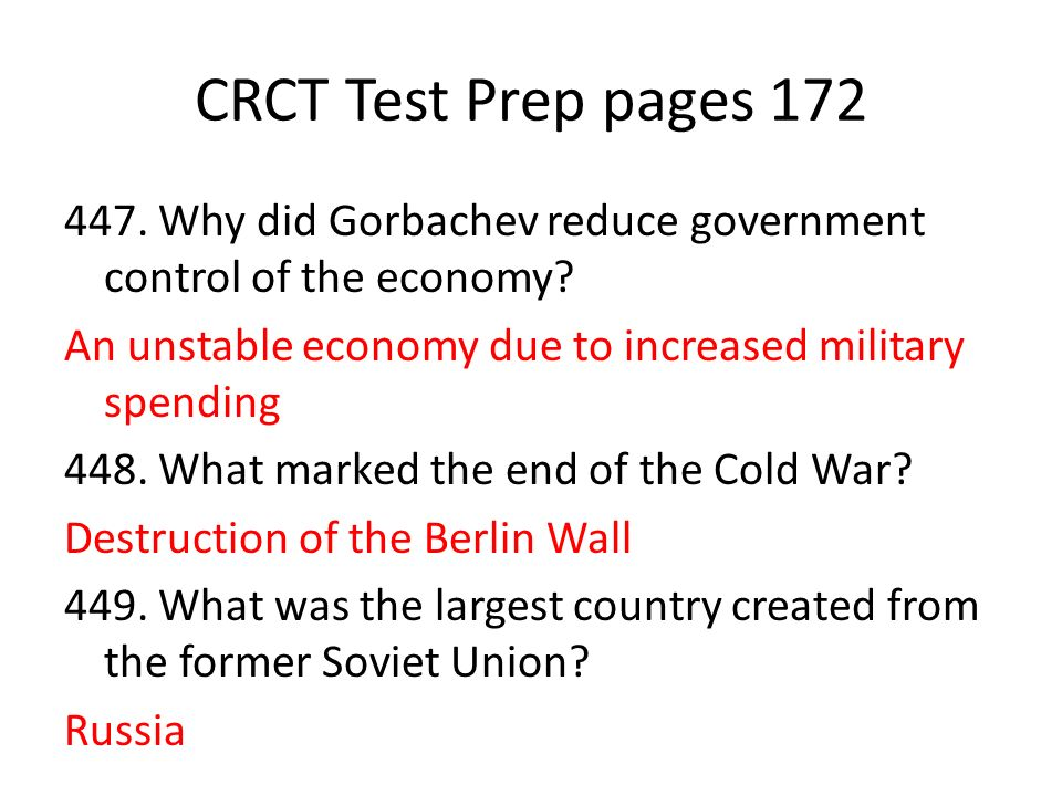 CRCT Test Prep pages 172