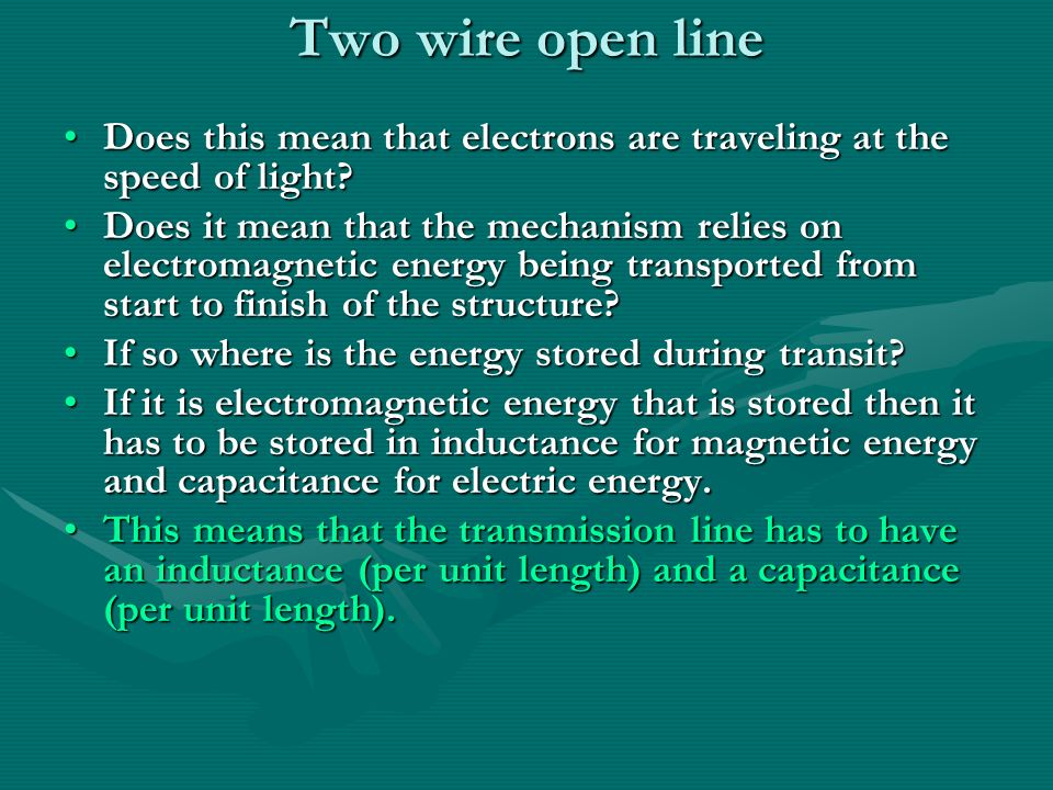 Transmission Lines Two wire open line a Strip line d w a Coaxial ...