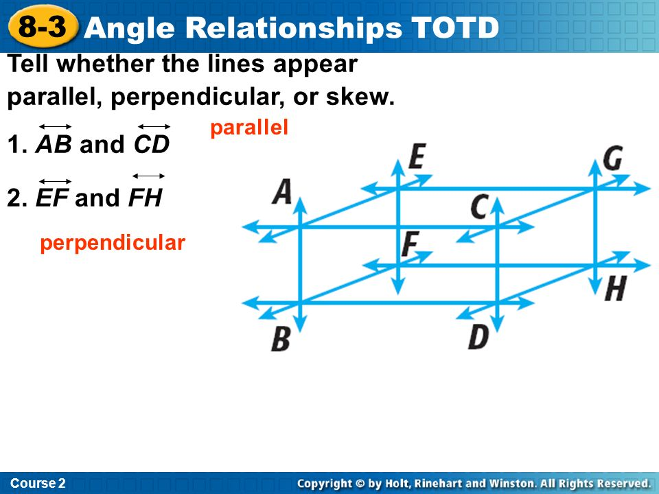 Angle Relationships TOTD Insert Lesson Title Here