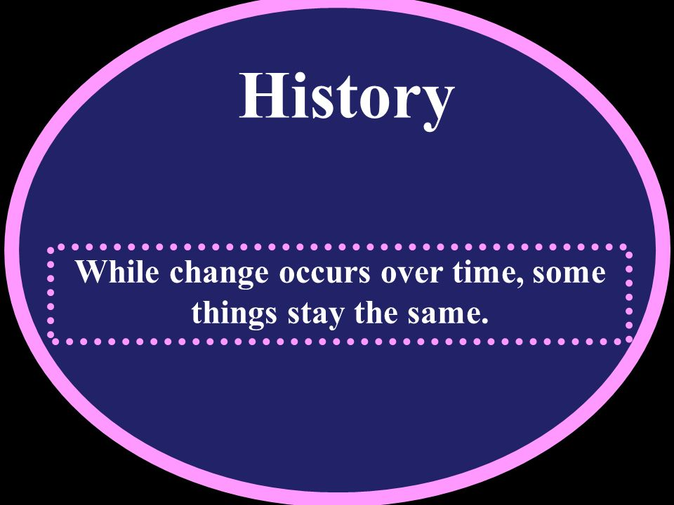 While change occurs over time, some things stay the same.