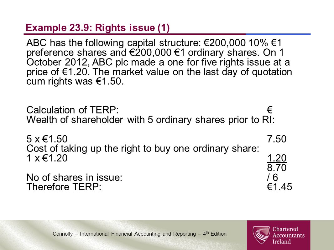 CHAPTER 23 EARNINGS PER SHARE  - ppt video online download