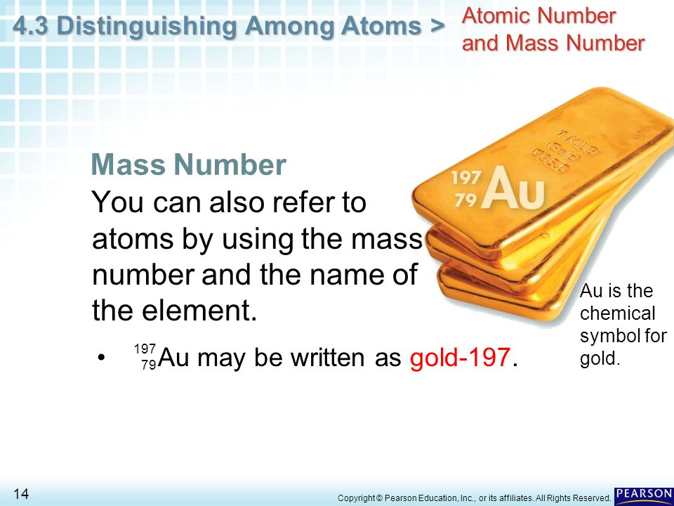 Chapter 4 Atomic Structure 43 Distinguishing Among Atoms Ppt
