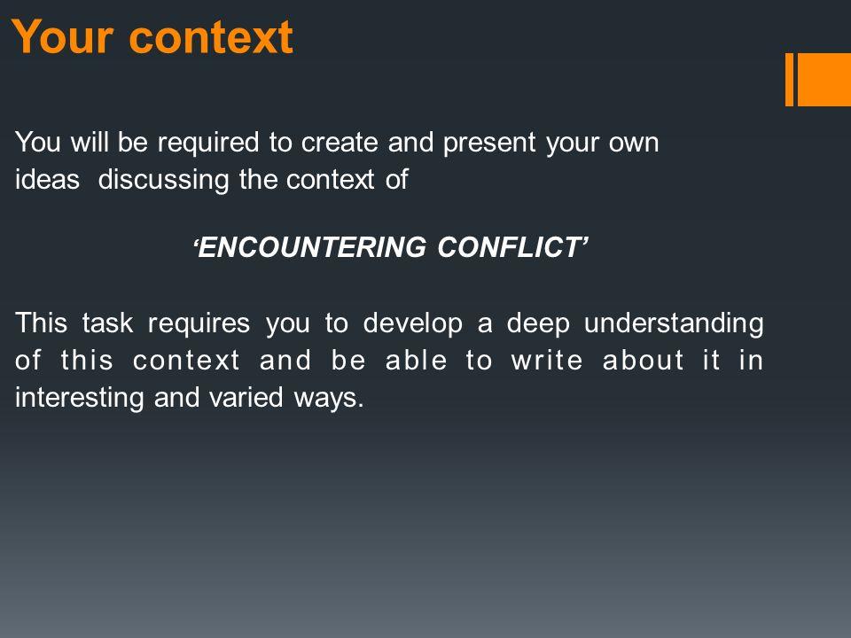 encountering conflict ideas