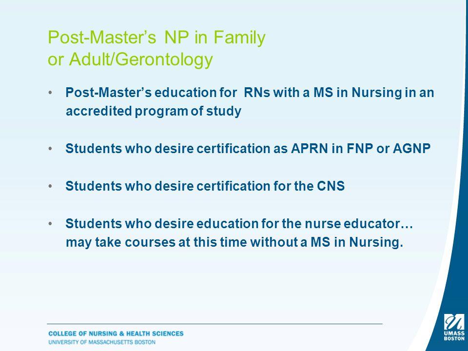Post-Master's Certificate Program Online Family Nurse