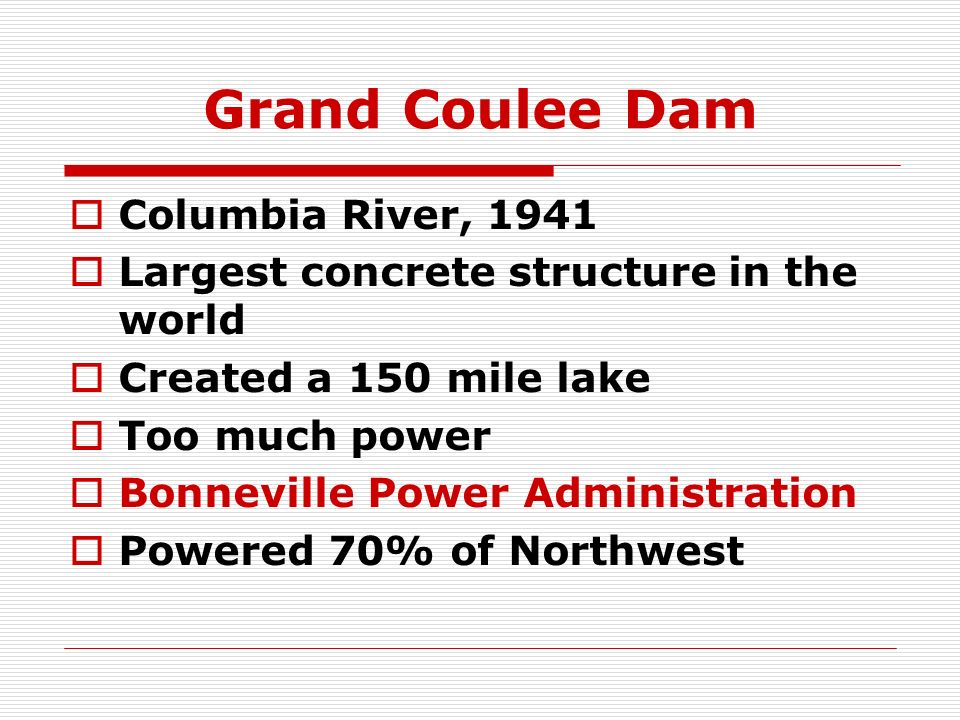 Grand Coulee Dam Columbia River, 1941