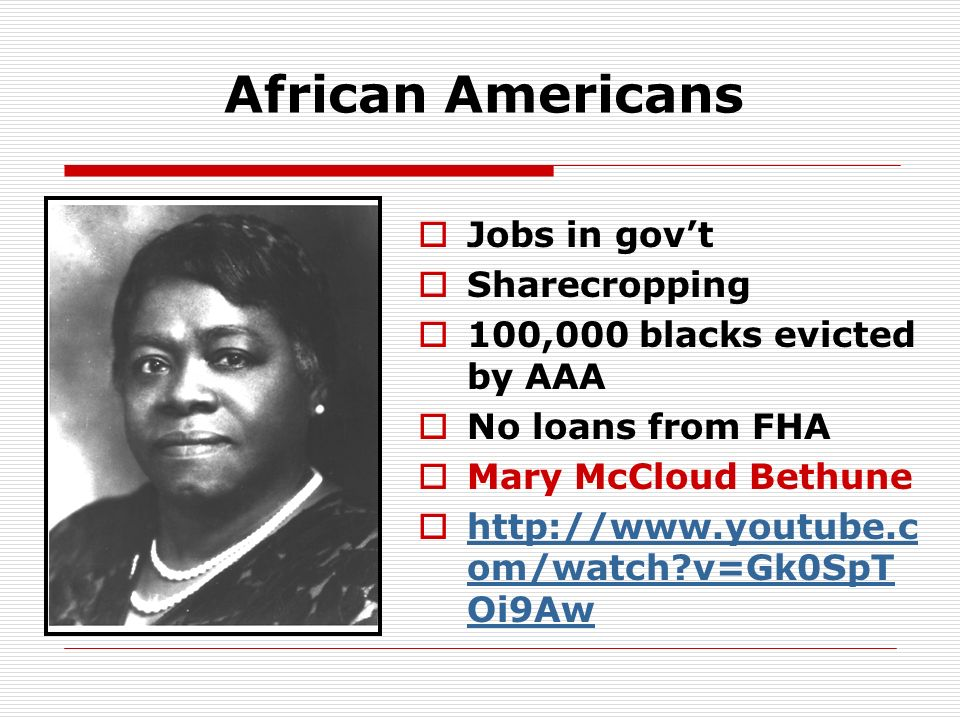 African Americans Jobs in gov't Sharecropping