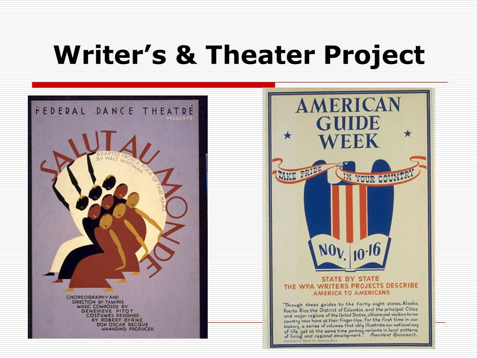 Writer's & Theater Project