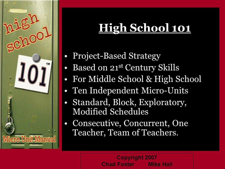 High School 101 Project-Based Strategy Based on 21st Century Skills