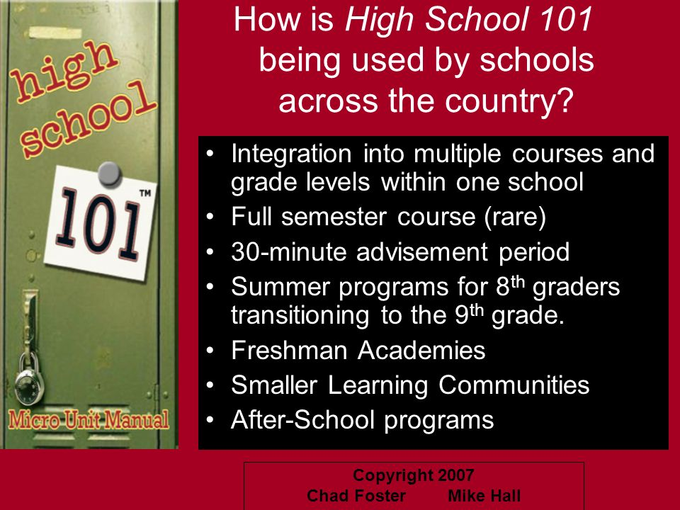 How is High School 101 being used by schools across the country