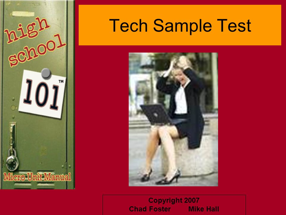 Tech Sample Test