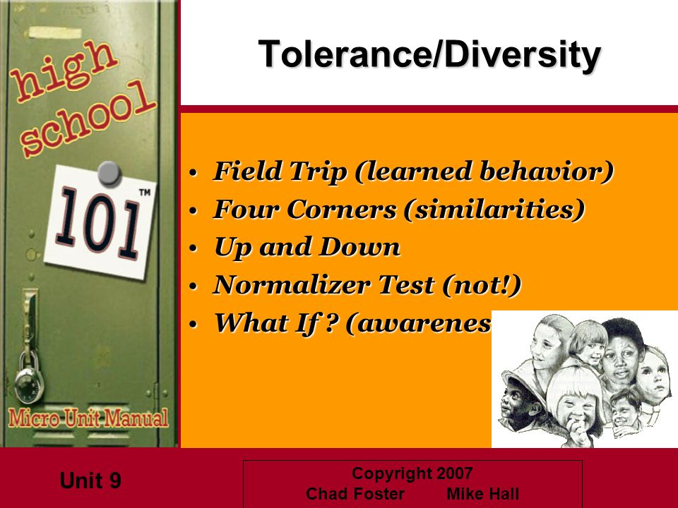 Tolerance/Diversity Field Trip (learned behavior)