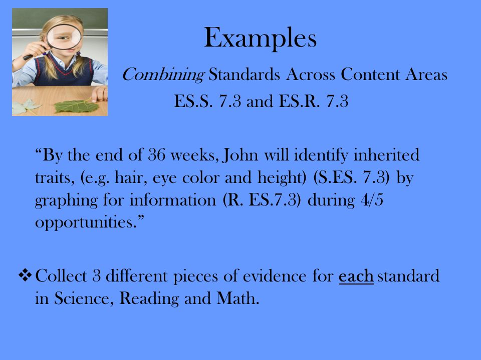 Examples Combining Standards Across Content Areas