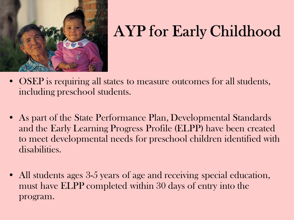 AYP for Early Childhood