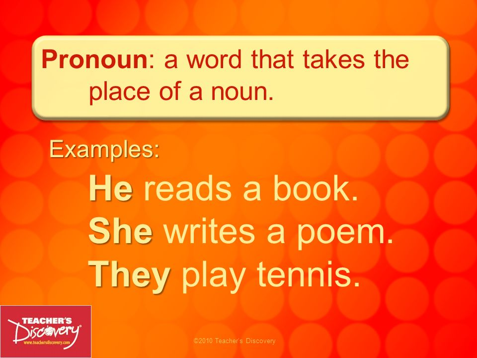 He reads a book. She writes a poem. They play tennis.