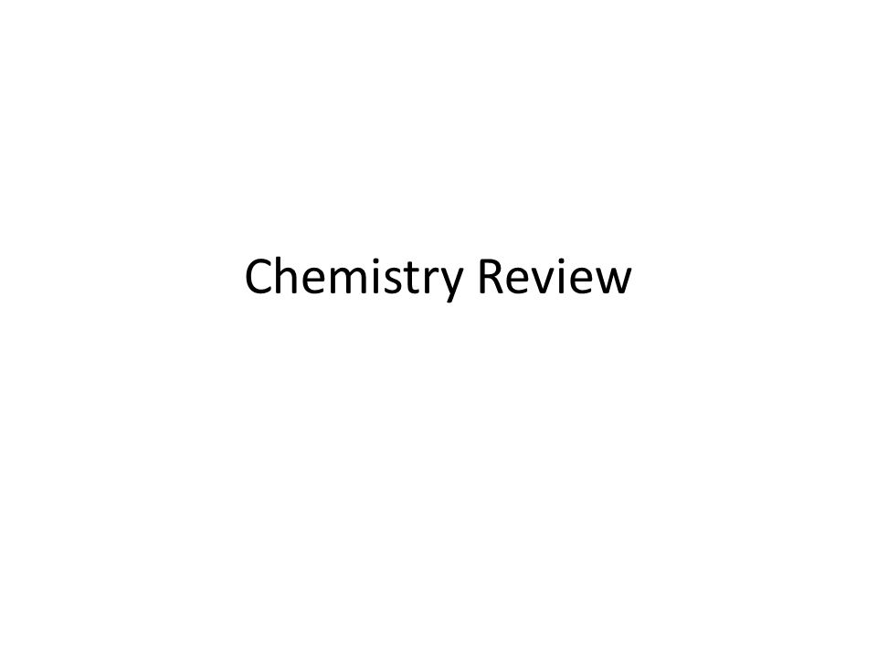 Chemistry Review Ppt Download