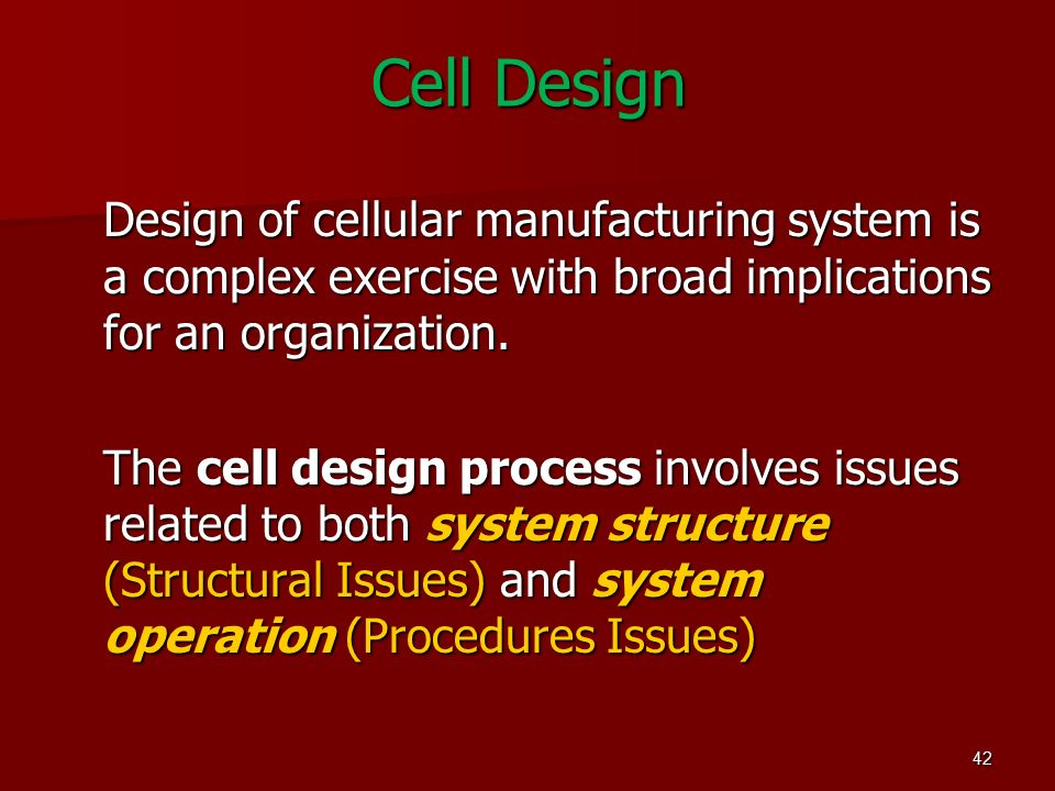 Group Technology And Cellular Manufacturing Eng Ahmed Al Afeefy Ppt Video Online Download