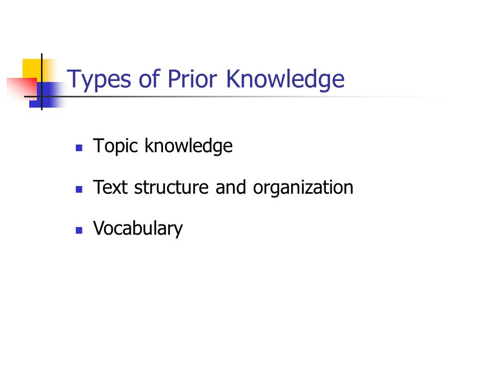 Types of Prior Knowledge