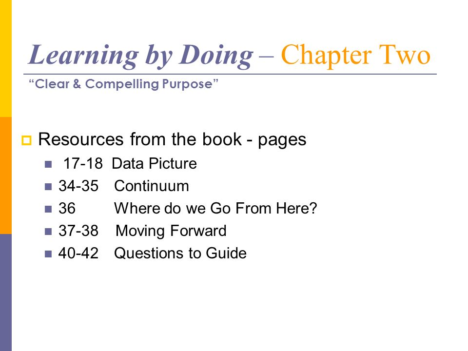 Learning by Doing – Chapter Two