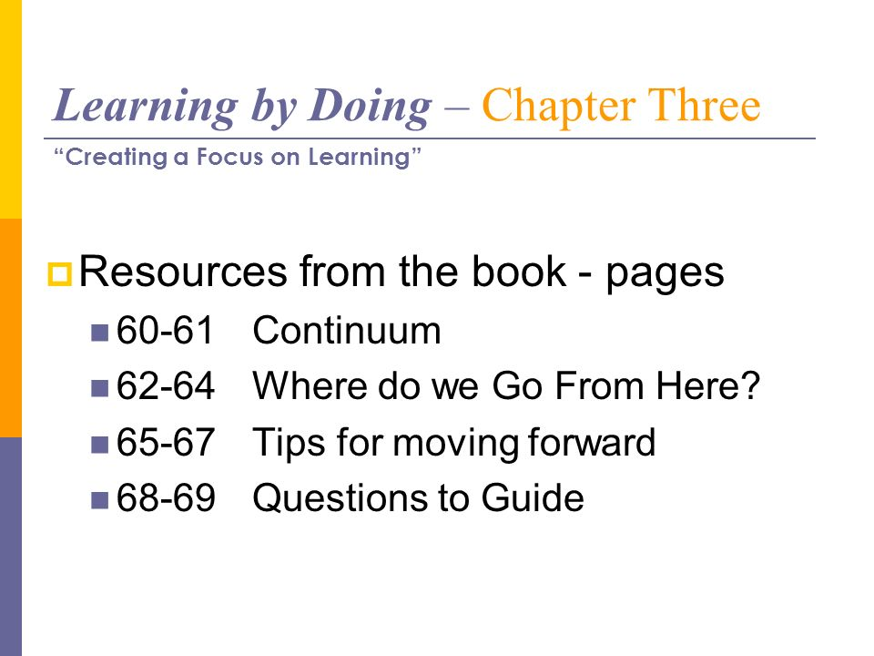 Learning by Doing – Chapter Three