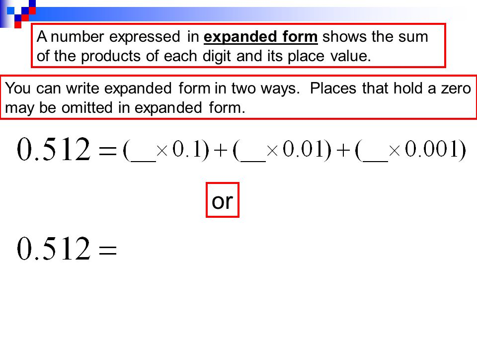 Decimals And Expanded Form Ppt Video Online Download