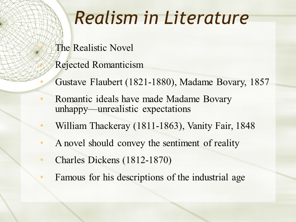 Realism in science and the arts ppt download.