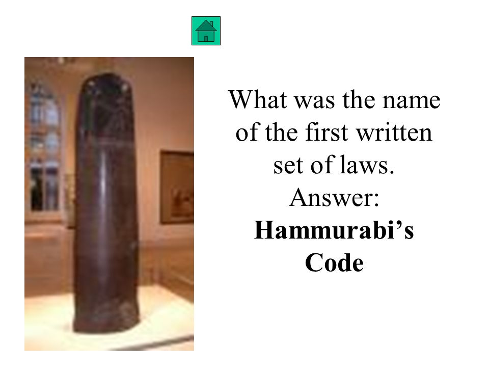 what was the first set of written laws