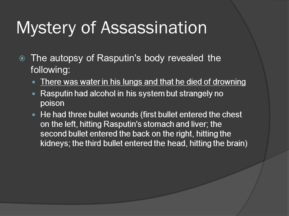 Mystery of Assassination