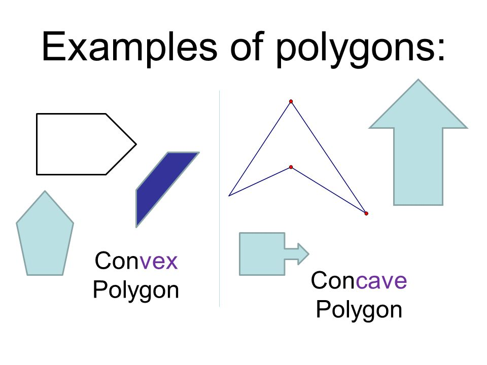 Concave Shapes Examples