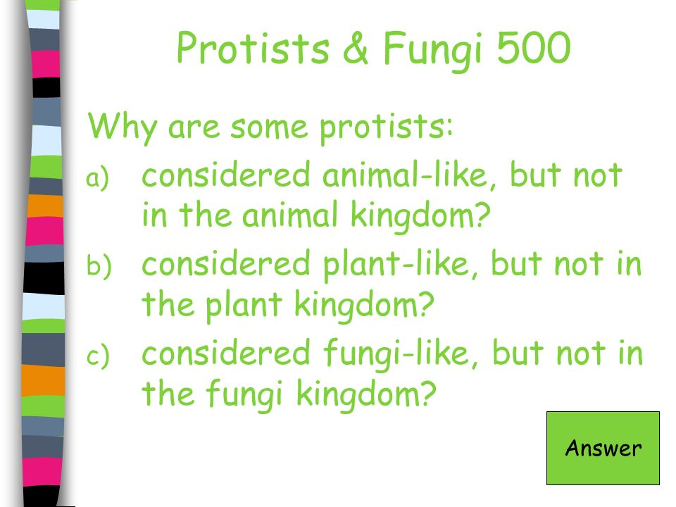 Protists & Fungi 500 Why are some protists: