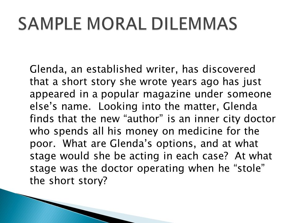 short moral dilemmas
