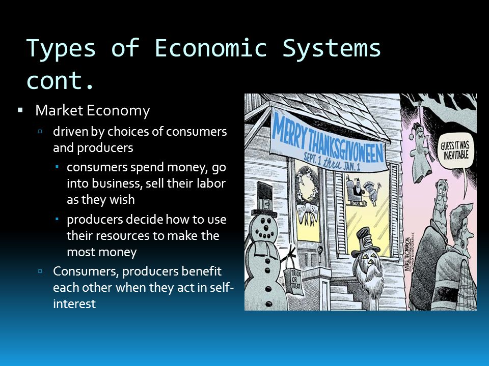 Types of Economic Systems cont.