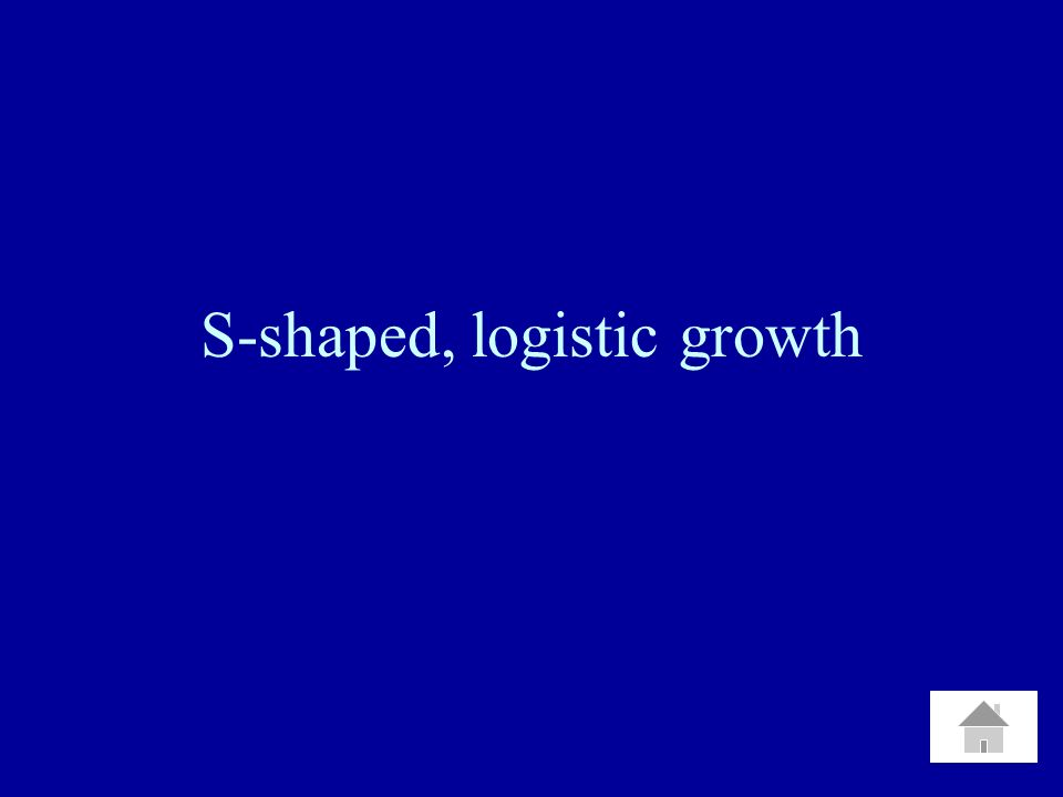 S-shaped, logistic growth