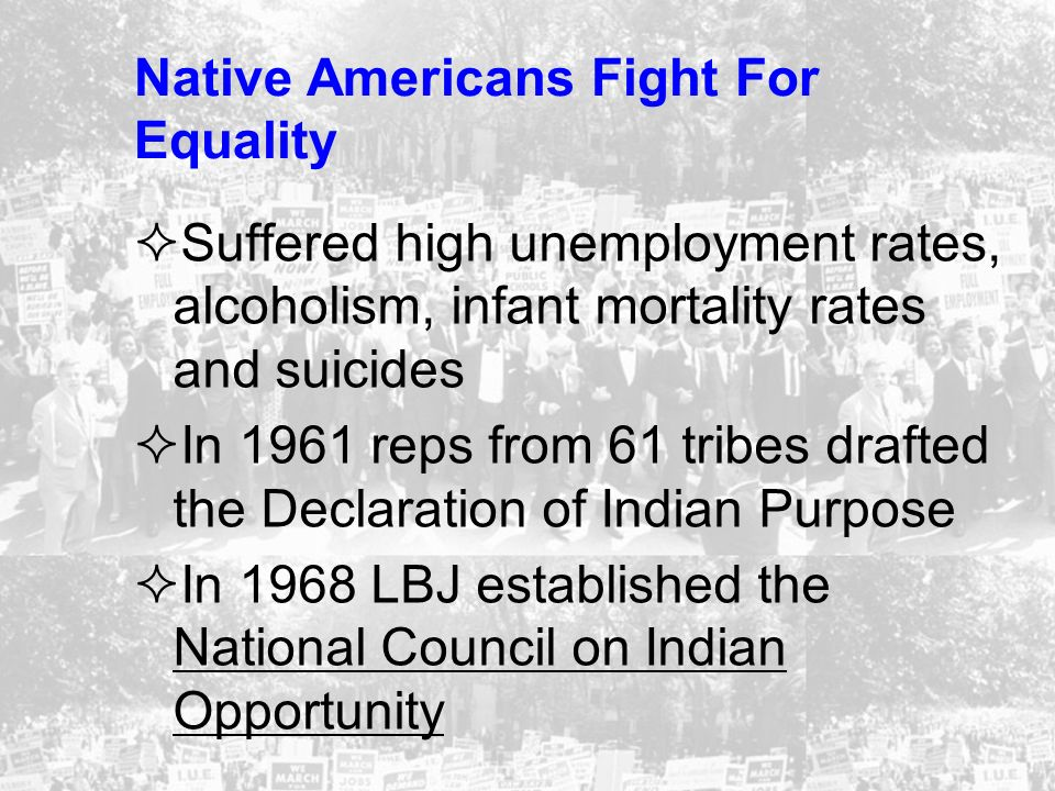 Native Americans Fight For Equality