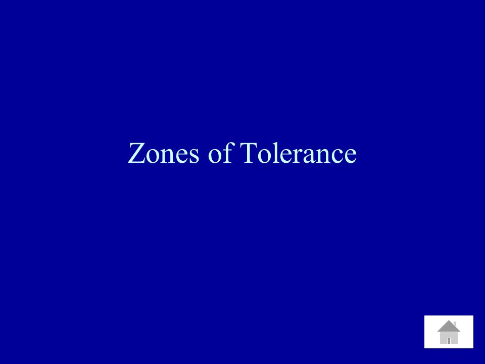 Zones of Tolerance