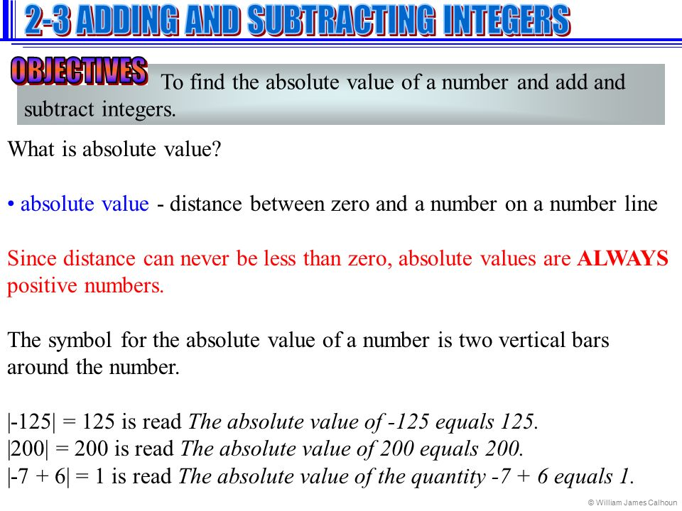 Adding And Subtracting Integers Ppt Video Online Download