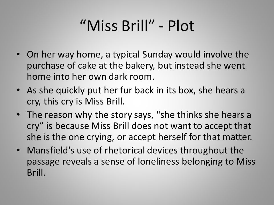 miss brill story