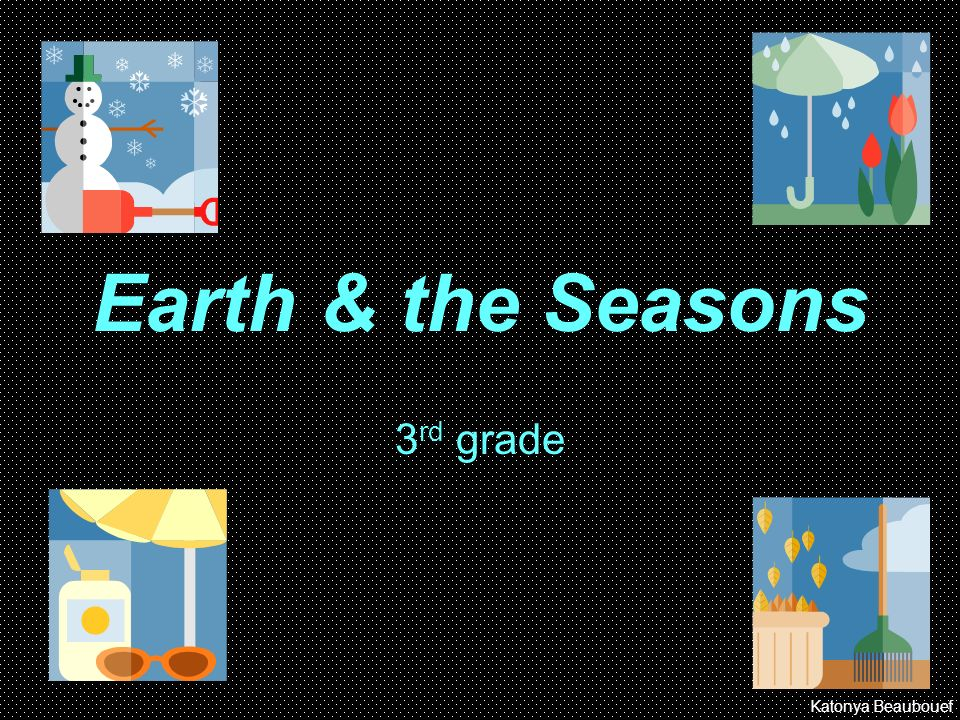 Earth & the Seasons 3rd grade Katonya Beaubouef