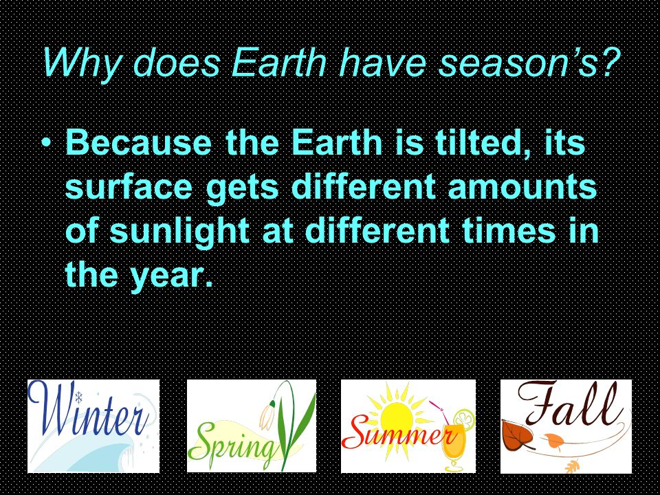Why does Earth have season's