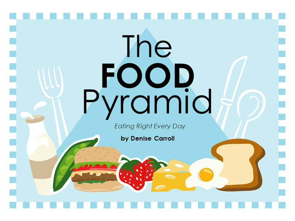 The FOOD Pyramid Eating Right Every Day by Denise Carroll