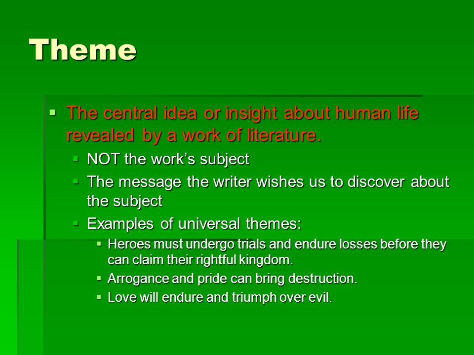 examples of pride in literature