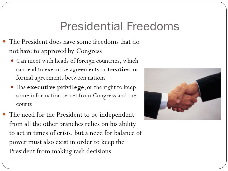 Presidential Freedoms