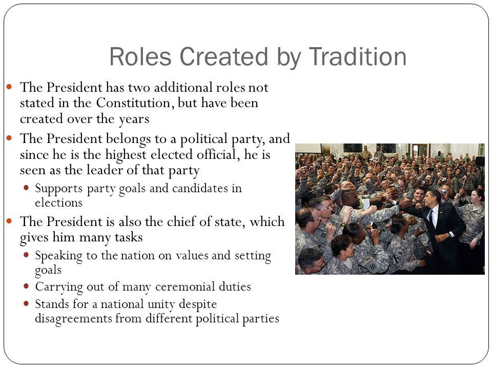 Roles Created by Tradition